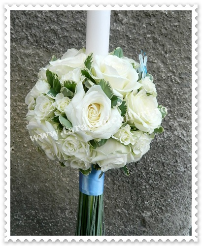 Lumanari de nunta din trandafiri si miniroze.5989